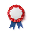 blank badge realistic blue and red label with vector image vector image