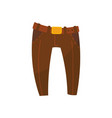 brown trousers with belt boys wear vector image
