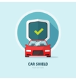 Car guard protection shield sign collision vector image vector image
