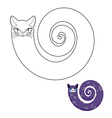 Cat breeds cat snake coloring book Fabulous pet vector image vector image