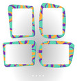 colorful frames for photo or vector image