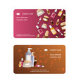 cosmetic product business card skincare vector image