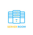data center server room icon vector image vector image