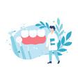dentistry and healthy teeth examination a vector image vector image