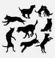 Dog pet animal silhouette 18 vector image vector image
