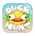 duck hunt sticker vector image vector image