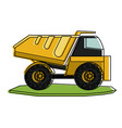 dump truck heavy machinery construction icon image vector image vector image