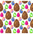easter eggs painted with spring decoration vector image