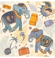 Elephant Travel pattern vector image vector image