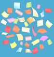 falling paper sheets with curved corners vector image vector image