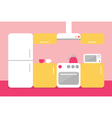 Flat design of kitchen vector image vector image