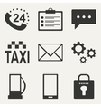 Flat in black and white concept mobile application vector image vector image
