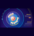 food planets mobile arcade game website vector image