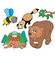 forest animals collection 2 vector image