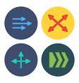 four flat modern arrows vector image