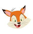 fox cartoon icon vector image vector image