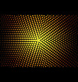 Gold halftone banner vector image vector image