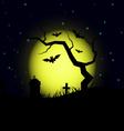 Halloween design background vector image vector image
