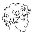 hand-drawn fashion model man face vector image