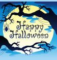 happy halloween theme with moon 3 vector image
