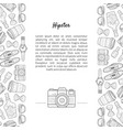 hipster banner template with place for text and vector image vector image