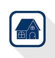 home flat icon vector image vector image