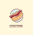hot dog street food logo design vector image