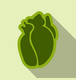 human heart flat style simple of human internal vector image