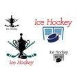 Ice hockey team emblems vector image vector image