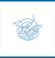 icon and logo for sea or fish asian food vector image