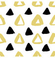 ink triangle pattern vector image
