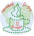 international tea day in december 15 world map vector image vector image