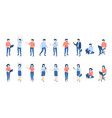 isometric people male and female persons vector image vector image