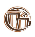 logo for coffee drink vector image vector image