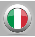 metal button with flag of Italy vector image vector image