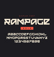 modern bold display font named rampage vector image vector image