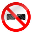 no glasses symbol vector image vector image