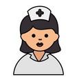 nurse beautiful avatar character vector image