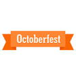octoberfest badge icon flat style vector image vector image