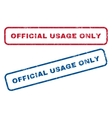 Official USAge Only Rubber Stamps vector image vector image