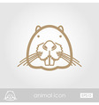 Otter beaver outline icon Animal head vector image