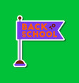 paper sticker on stylish background back to school vector image vector image
