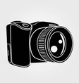 photo camera isolated on white background vector image vector image