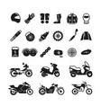 racing motorcycle motorbike parts vector image vector image