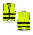 realistic 3d detailed safety vest set vector image vector image