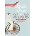 Retro Bridal shower invitationBride and retro vector image