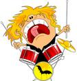 rock drummer vector image