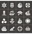 Saiboat icon set vector image vector image