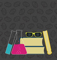 science and education background with school vector image vector image
