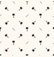 seamless geometric pattern with silhouettes vector image vector image
